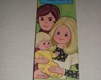 SALE...Vintage Mattel  Sunshine Family Paper Dolls, 1974.  Uncut.