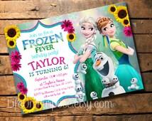 Frozen Fever Birthday Invitation