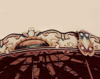Nursery Wall Art, Carnival Photograph, Minimal, Retro, Home Decor, Pastel,  Mid Century, Still Life, Peach, Pink, Fine Art Print