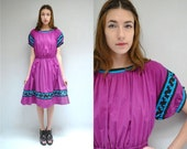 70s Folk Dress  //  Southwest Dress  //  SPIRIT in the SKY
