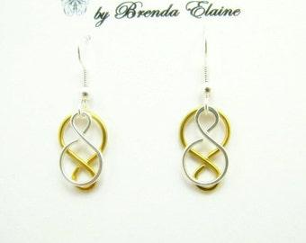Two  Tone Mini Celtic Knot Earrings
