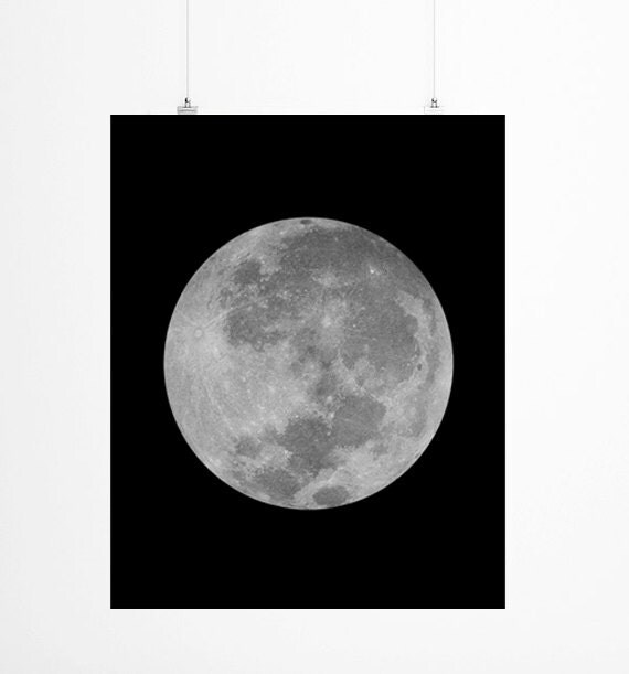 Instant Download Large Wall Art , Digital Download Full Moon Print  , Instant Download La Luna Print, Printable Full Moon Photography