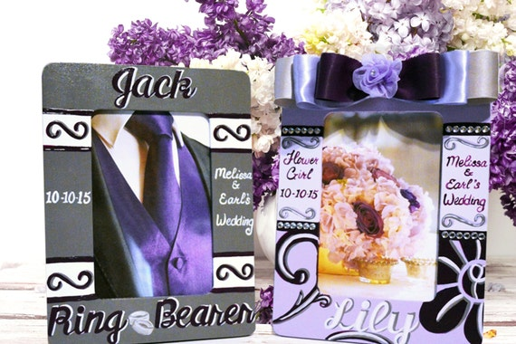 Flower Girl and Ring Bearer Personalized Frames