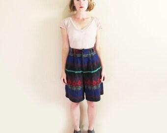 vintage shorts wool southwestern 1980's high waisted autumn clothing size medium m