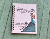 Gratitude Journal - Illustrated One Line Per Day Journal with Quotes - Spiral Bound - 5 x 7 One Year Journal