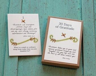 30 Days of Gratitude - Gratitude Journal - Gratitude Calendar - Thanksgiving Advent Calendar - Dinner Table Activities