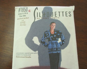 Silhouettes uncut Pattern 1850 - Peggy Sagers, jacket, pants, small, medium, large, extra large