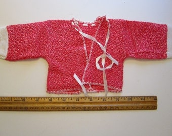 vintage doll sweater - fits 18 to 20 inch doll - doll clothes