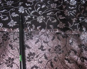 destash 2 1/2 yards black/silver brocade