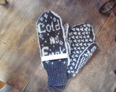 Handmade wool mittens made in Maine