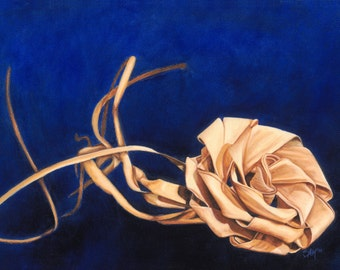 Sweetgrass Rose Fine Art Paper Print 9x12-inches