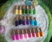Rainbow Fairy Magic, Glitter Sparkles 20 Birthday Party Favors, Tiny Bottle Happy Birthday Party Favor Raffle Prize,Small Gift,Bag Filler