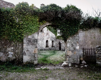 Clifton Castle 11x14 Ireland rock history