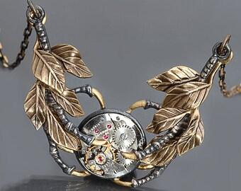 Steampunk Necklace Bird Claw Necklace Steampunk Pendant