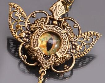 Butterfly Wings Eye Necklace Evil Eye Necklace