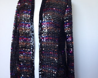 Stunning High Fashion Colourful Sequin Vintage Blazer
