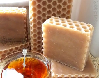 HONEY soap - local Florida palmetto honey - miel savon - handmade by Bonny Bubbles