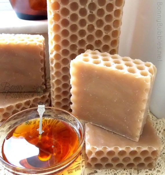HONEY soap - local Florida palmetto honey - miel savon - handmade by Bonny Bubbles