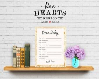Little Golden Book: Dear Baby - Printable PDF