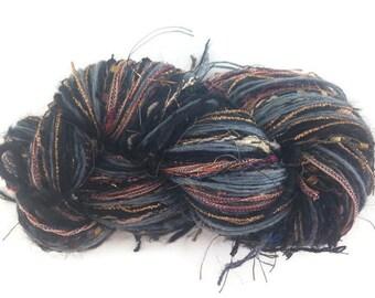 Black Knitting  Yarn Fusion Boutique Art Yarn Crochet Yarn Wool Mohair