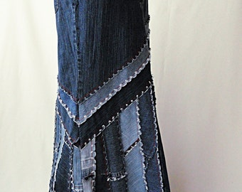 Long Jeans Skirt - Made to Order - Long Ella 2Day Denim Skirt