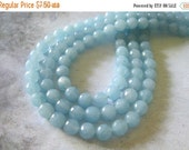 "30% OFF SALE 8"" Long (25 Pieces) Blue Quartz 8mm Faceted Round Beads, Gemstone Beads"