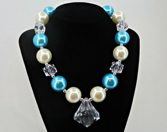 Elsa Frozen inspired chunky Necklace for Little Girls Photo prop