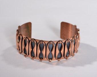 Vintage Renoir Espana Cuff Bracelet - Modernist Copper - Fall Fashions