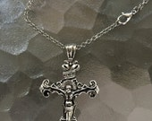 Keep The Faith A Large Silver Cross  Necklace Religous Necklaces Gothic Silver Cross Necklaces Etsy Necklaces Alteredhead