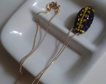 UW Husky sparkly necklace