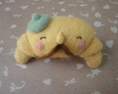 CLEARANCE SALE! French Croissant - Wool Brooch