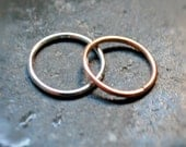 Teeny, Tiny Hoop Earrings - Gold and Silver