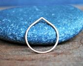 Pointed gold stacking ring - Peak Ring