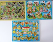 Reserved for Meg Vintage wooden jigsaw puzzles