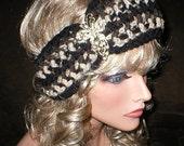 35 % OFF SALE Fall Winter Vintage Style Reproduction Rhinestones Butterfly Brooch Head Wrap Turban