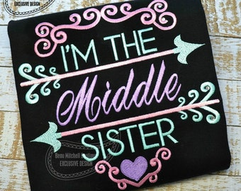 Middle Sister arrow- BMB EXCLUSIVE embroidery design
