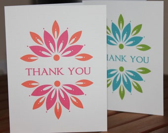 Flower Burst Note Card, Thank You Card