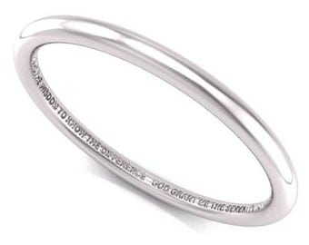 SERENITY Prayer - Solid Silver Bangle - Recovery Jewelry - SERENITY Prayer Braclet - Love Letters by Lisa Pittar