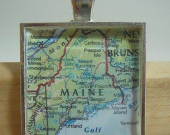 State Of Maine Map Pendant