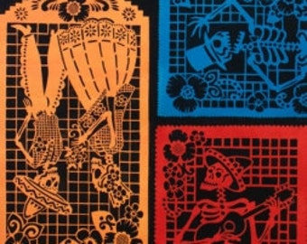 Colorful Folklorico Papel Picado - Alexander Henry Fabric - 1 Yard