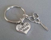 Special Nana with Scissor Charm Keyring