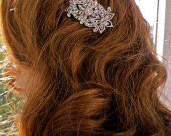 Bridal Wedding Headpiece, Bridal Formal Wear, Rhinestone Bridal Comb, Rhinestone Wedding Comb, Bridal Wedding Comb