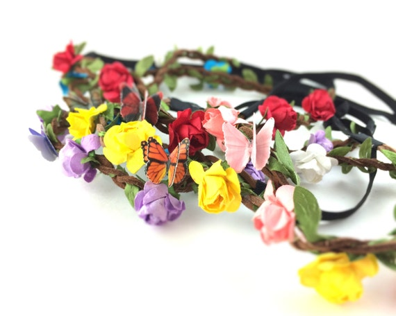 Butterfly Flower Crown Headband
