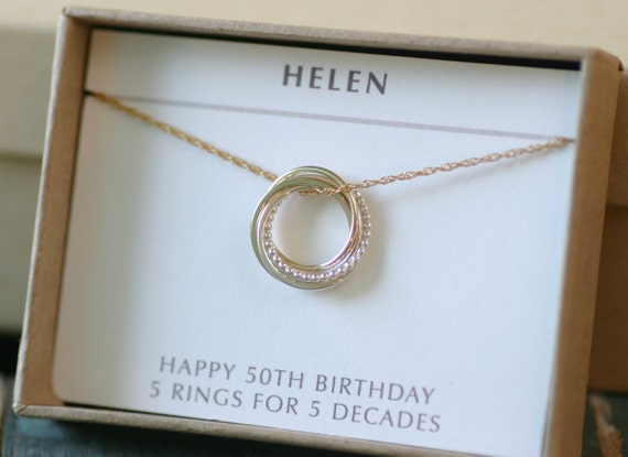 Gifts For 50th Wedding Anniversary For Friends: 50th Birthday Gift For Sister Jewelry 5 Best Friends