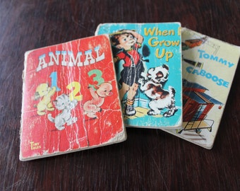 3 Tiny Tales Books / Animal 1, 2, 3 / When I Grow Up / Tommy Caboose