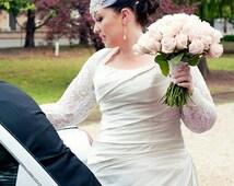 BRIDAL Cover Up, Wedding Bolero, Bridal Shrug,  with Gathered Cuff