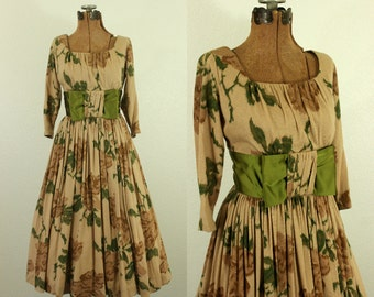 1950's Floral Party Dress XS S Jr. Theme