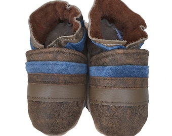 Henry (baby shoes, in all-natural distressed leather)