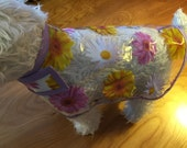 New Clear Floral Dog Rain Jacket