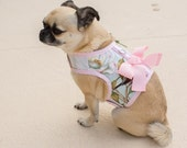 """SALE  20-22"""" Chest Bird Song Small Dog Harness  Made in USA"""